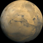 Mars' Valles Marineris, from the Viking Orbiter